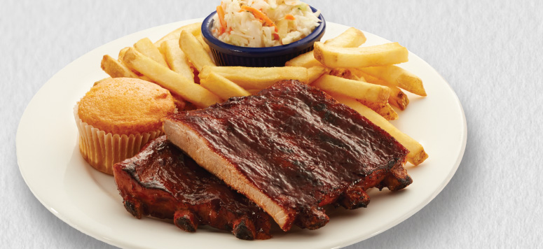 Our smoked St. Louis-style ribs are slow cooked for maximum flavor