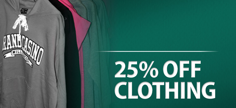 25% Off Any Clothing Item!