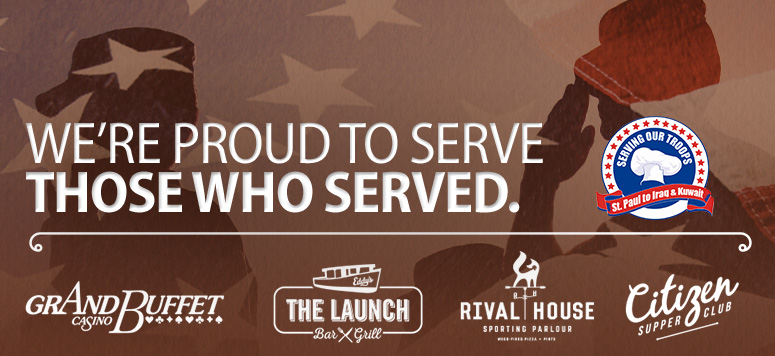 Free meal for military personnel