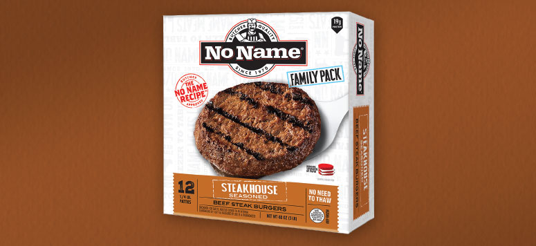 NO NAME® STEAK BURGERS