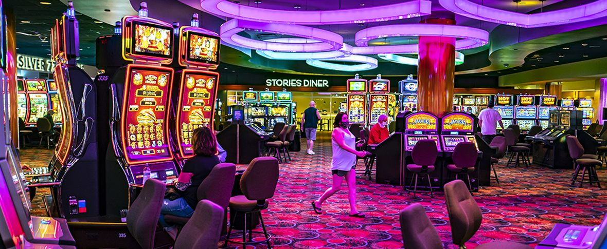 People enjoying themselves in casino